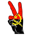 Peace Sign of the Angola flag vector image vector image