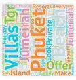 Phuket beach villas Jumeirah phuket Phuket villas vector image vector image