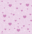pink network of hearts seamless repeat pattern vector image vector image