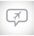 Plane grey message icon vector image vector image