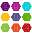 question icons set 9 vector image vector image
