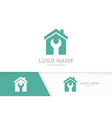real estate and repair logo combination vector image