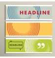 Round color lines on a banner background vector image