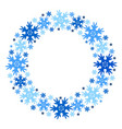 round winter frame of snowflakes isolated vector image vector image