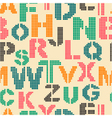 seamless pattern with letters of the alphabet vector image vector image