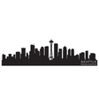 seattle washington skyline detailed silhouette