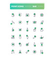set 30 line icons bar vector image vector image