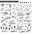 Set of hand drawn scribbles vector image vector image