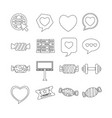 set of web icons for website and communication vector image vector image
