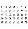 set packaging symbols vector image