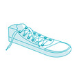 shoes young style icon vector image