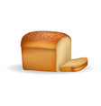 square bread with thin slice isolated on white vector image