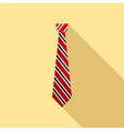 textile tie icon flat style vector image vector image