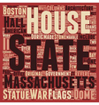 The Massachsetts State House text background vector image vector image