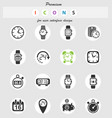 time icon set vector image