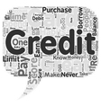 Top Habits Of People With Great Credit Scores text vector image vector image