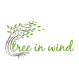 tree in wind with text vector image