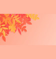 trendy autumn background with paper style bright vector image