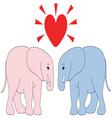 Valentine Elephants vector image vector image
