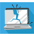 wasted laptop damage total vector image vector image