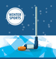 winter sports design vector image vector image