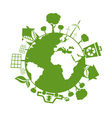 concept earth with icons of ecology environment vector image