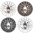 hipster style labels of barber salon vector image