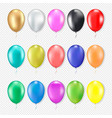 3d realistic colorful balloons set vector image vector image