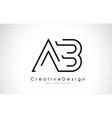 ab letter logo design in black colors vector image vector image