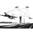 air traffic management vector image