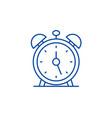 alarm clock line icon concept alarm clock flat vector image