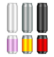 Aluminum Can Templates vector image