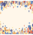 autumn background with beautiful color leaves vector image vector image
