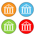 Bank button set vector image vector image