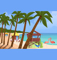 beach bugalow home background vector image