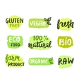 Bio natural food concept vector image vector image