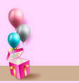 birthday celebration background birthday balloon vector image
