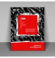 booklet with modern red square vector image vector image