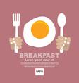 Breakfast Concept EPS10 vector image