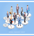 business teamwork management conceptual vector image