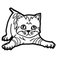 cartoon Cat Coloring Page for kid vector image vector image