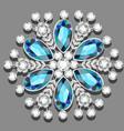 christmas snowflake crystal precious beautiful vector image vector image