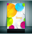 Colorful 3D circles - Business Flyer Template vector image vector image