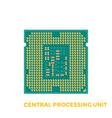 cpu processor vector image vector image