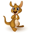 cute baby kangaroo cartoon vector image vector image