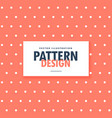 cute orange background with white polka dots vector image vector image