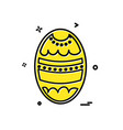 egg icon design vector image vector image