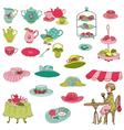English Tea Party Set vector image vector image