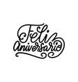 feliz aniversario translated from spanish vector image vector image