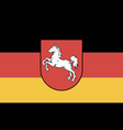 flag lower saxony vector image